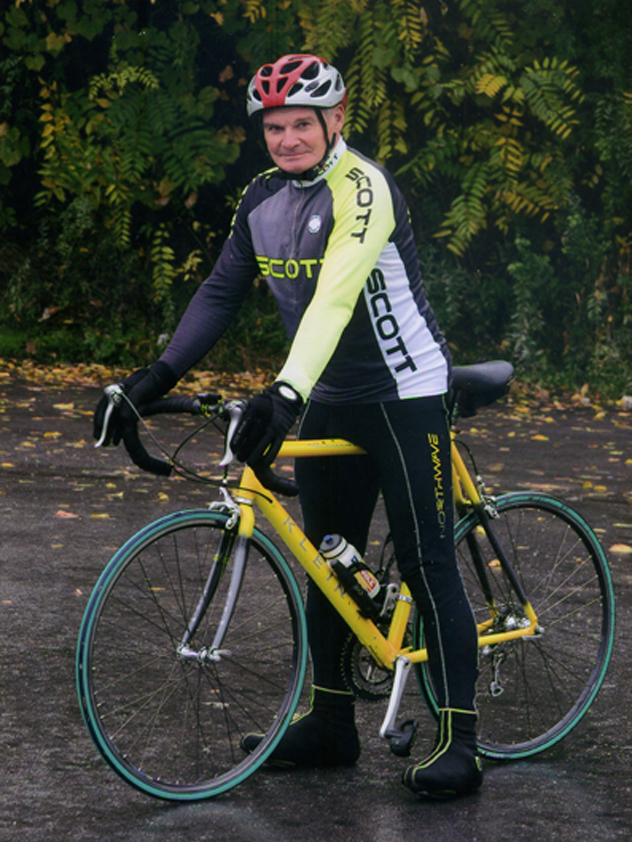 Jozef Farkas na biciklu